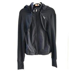 Puma sport vest with removable hood sleeves medium